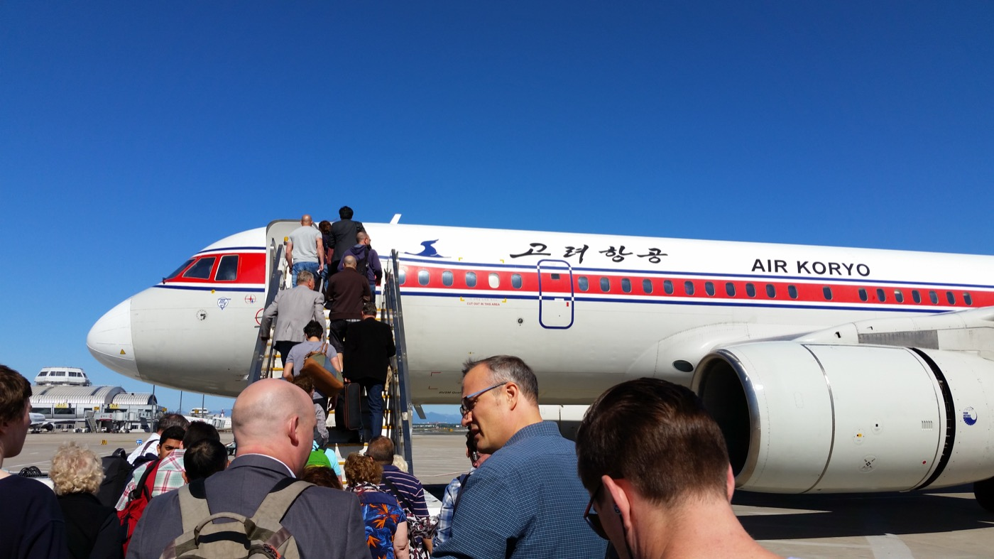 This is the state-run Air Koryo's Tupolev Tu-204. The airline has 19 planes in its fleet and in my opinion, very welcoming staff. The in-flight entertainment is the Moranbong Band, though, leaving much to be desired.